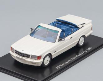 MERCEDES-BENZ 500SEC AMG BB Magic Top Convertible (1985), metallic white