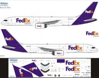 Декаль на самолет боенг 757-200F (FDex)