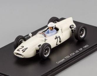 COOPER T53 №24 US GP (Hap Sharp) 1962, white
