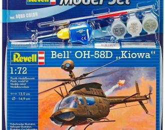"""Сборная модель Американский вертолёт Bell OH-58D """"Кайова"""" (Подарочный набор)"""