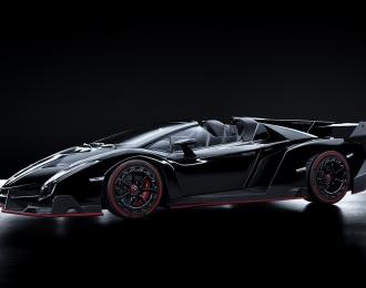 Lamborghini Veneno Roadster (black / red line)