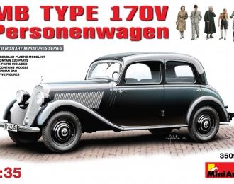 Сборная модель Немецкий легковой автомобиль Мercedes-Benz 170V
