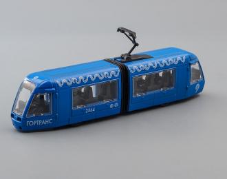 Трамвай Гортранс, голубой + световые и звуковые эффекты