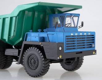 БЕЛАЗ-540 карьерный самосвал (синий, зеленый), Грузовики СССР. Спецвыпуск 4