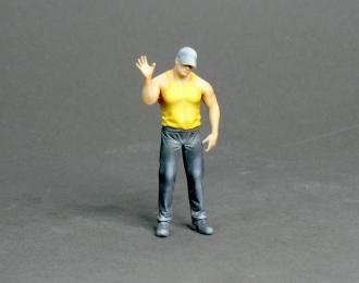 Фигура Мужчина стоит (масштаб 1:24) Вариант 10, окрашенная
