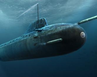 Сборная модель Подводная лодка Russian Navy Yasen Class SSN