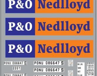 Набор декалей Контейнеры P&O (вариант 2) (100х140)