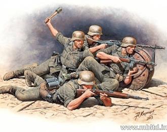 Сборная модель Немецкая пехота в обороне. Набор №1