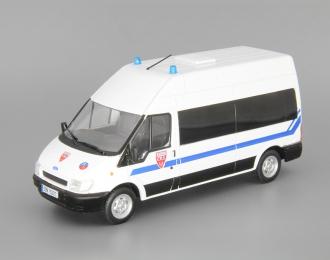 FORD Transit Национальная полиция Франции, Полицейские Машины Мира 41, белый