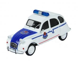 CITROEN 2CV Ertzaintza, Полицейские Машины Мира 64, белый