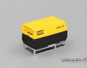 Компрессор Atlas Copco XAS 47 (закрытый на ферме), желтый / черный