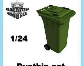 Сборная модель Пластиковый мусорный контейнер
