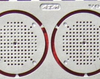 Фототравление Воздушный фильтр VOLVO 11мм, матовый никель