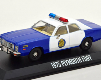 """PLYMOUTH Fury """"Osage County Sheriff"""" 1975 Blue - White"""