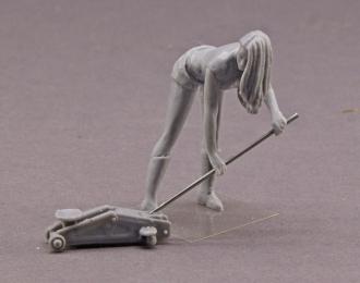 (KIT) Фигурка Девушка с домкратом