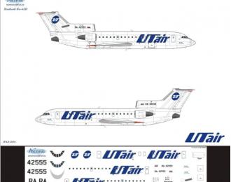 Декаль на самолет Яквлев Як-42Д (ЮутАйр)