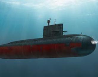 "Сборная модель Chinese PLA Navy Type 041 ""Yuan"" Class Attack Submarine"