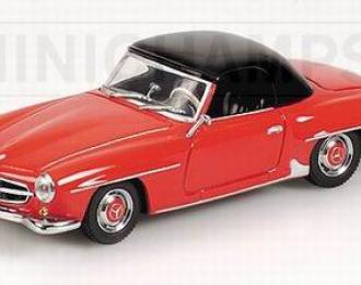 MERCEDES-BENZ 190 SL HARDTOP 1955 RED/BLACK