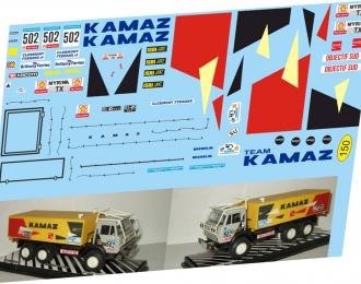Набор декалей Камский грузовик №502 Ралли Objectif Sud