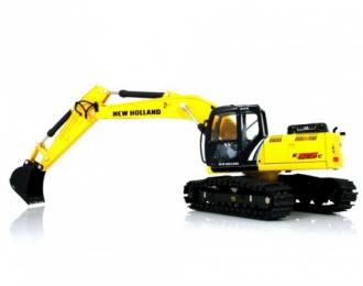 NEW HOLLAND excavator 215 C with bucket, yellow