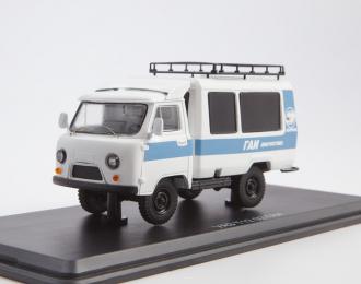 УАЗ-Т12.02 ГАИ, белый / голубой