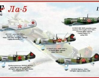 Сборная модель Советский истребитель Ла-5 / Ла-5Ф