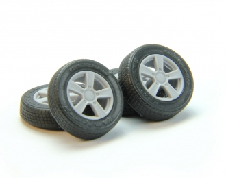Набор колес для ВАЗ-2121 (литой диск, резина КАМА-232)