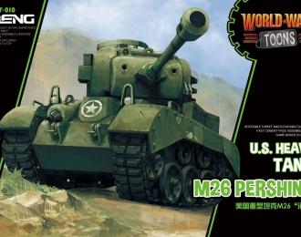 Сборная модель Американский тяжелый танк M26A1 Pershing  (карикатура, сборка без клея, для детей)