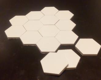 Плиты аэродромного покрытия (шестиугольные), комплект 15 шт., серый