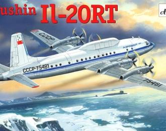 Сборная модель Советский самолет получения ракетно-космической телеметрии Ил-20РТ