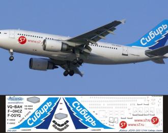 Декаль на самолет Arbus A310-300 (Сибрь Clasic)