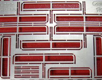 Фототравление Рамки форточек (матовый никель) для IKARUS-66 (MODIMIO)