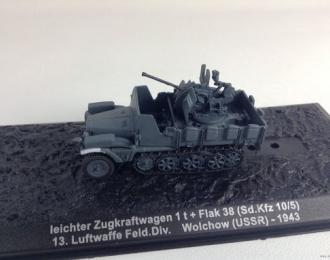 Leichter Zugkraftwagen 1t + Flak 38 (Sd.Kfz.10/5), 13. Luftwaffe Feld.Div., Wolchow, USSR (1943)
