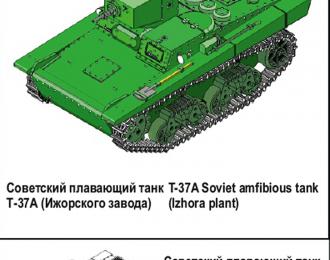 Сборная модель Плавающий танк Т-37А