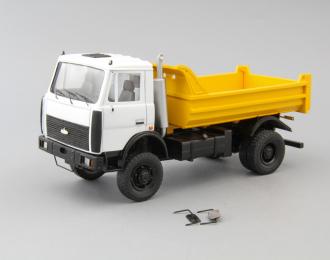 МАЗ 55513 самосвал 4x4, белый / желтый