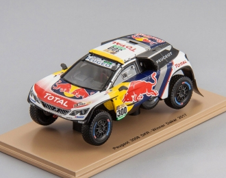 PEUGEOT 3008 DKR #300 Winner Dakar S. Peterhansel - J-P. Cottret (2017), white