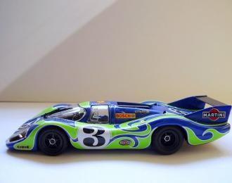 PORSCHE 917 LH Gerald Larousee (F) - Willy Kauhsen (D) #3 (1970), blue / green