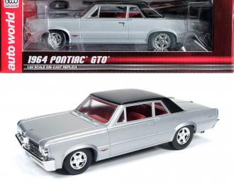 Pontiac GTO 1964 серебристый с черной крышей