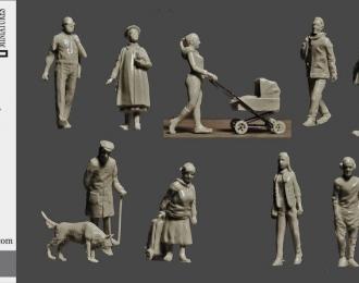 Сборная модель Городские жители.Прохожие