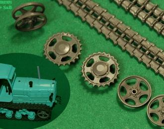 Набор траков и колёс для моделей СХТЗ-НАТИ