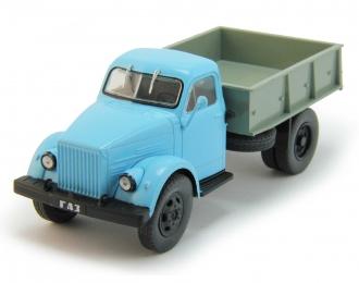 Горький 93Б строительный самосвал, Автомобиль на службе 75, серый / голубой