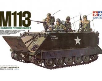 Сборная модель Амер. БТР  M113 A.P.C.(Вьетнам) с внутр. интерьером , 5 фигур
