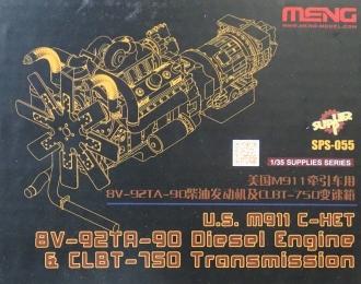 Сборная модель Американский дизельный двигатель M911 C-HET 8V-92TA-90 с трансмиссией CLBT-750