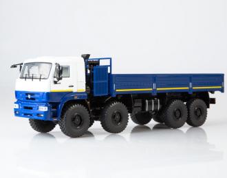 КАМАЗ-6560 бортовой (рестайлинг), белый / синий