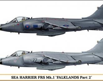 Сборная модель Британский штурмовик British Aerospace Sea Harrier FRS.1 Mk.1 FALKLANDS Part 2