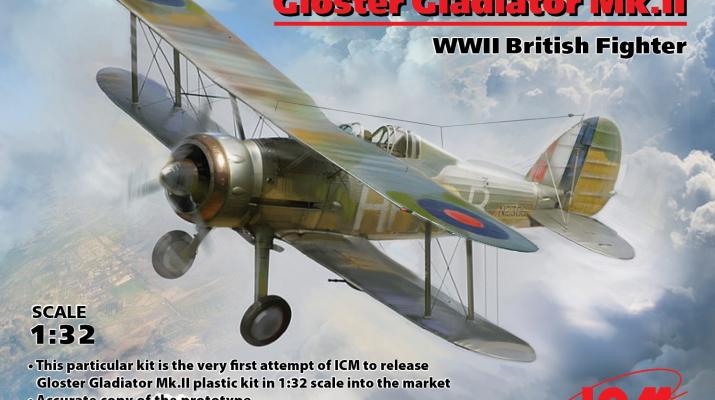 Сборная модель Gloster Gladiator Mk.II, Британский истребитель II МВ
