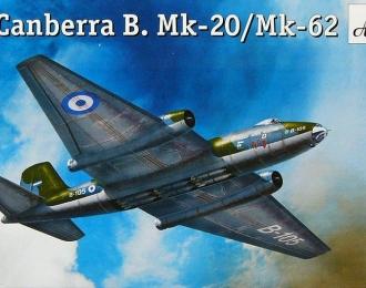 Сборная модель Британский средний бомбардировщик English Electric Canberra B.Mk-20 / Mk-62