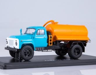 Ассенизационная машина АНМ-53 (53А), голубой / оранжевый