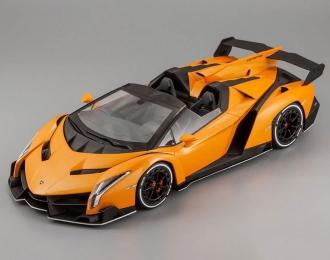 LAMBORGHINI Veneno Roadster, orange / white line