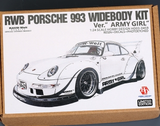 "Конверсионный набор RWB Porsche 993 Widebody Kit для моделей Ver.""Army Girl"" (Resin+PE+Decals+Metal parts)"